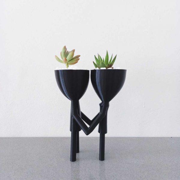 sam and lam pot planter men 3d printed royal art and decor